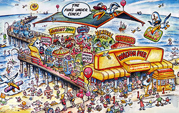 Wlton Pier - cartoon map